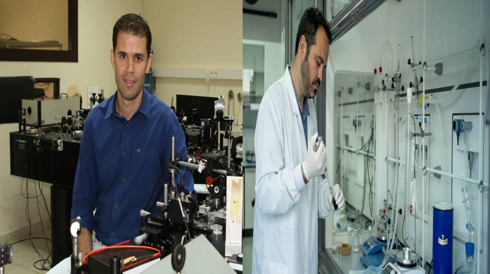 De izquierda a derecha: el doctor Carlos Hernández y el doctor Pablo del Pino.