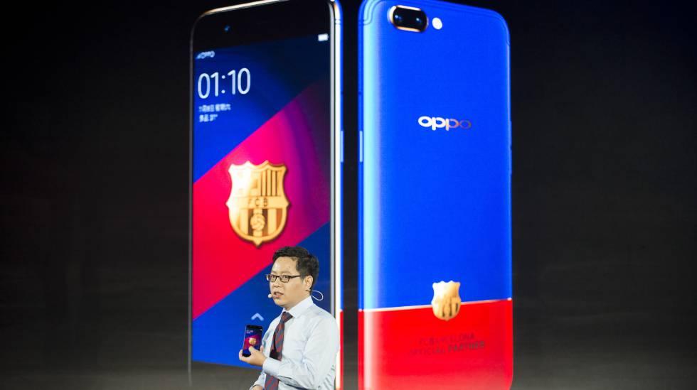 Oppo R9  Oppo apuesta por el FC Barcelona y el oro para batir al ... ca5f2070ea2