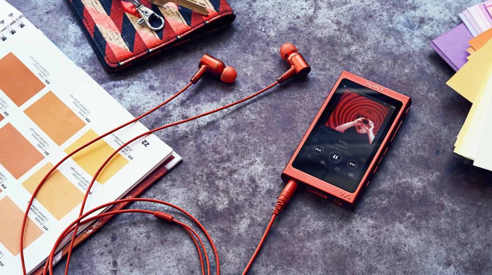 Reproductor musical portátil Walkman de la gama NW-A30 de SONY.