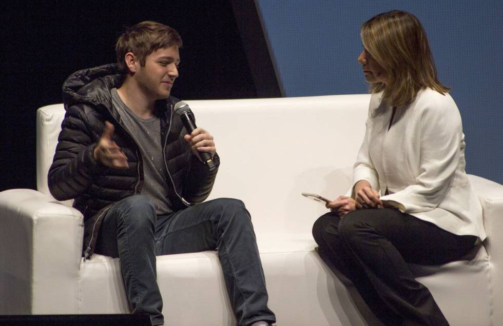 Michael Sayman durante una entrevista.
