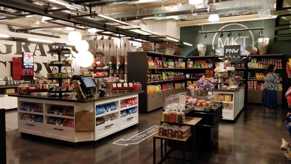 Tienda para empleados dentro de la sede de Amazon.