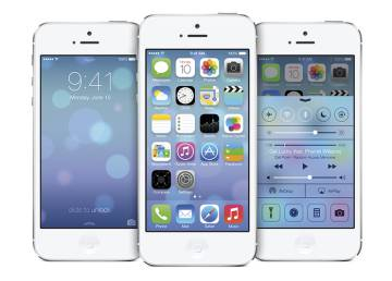 La colorida interfaz de iOS 7.