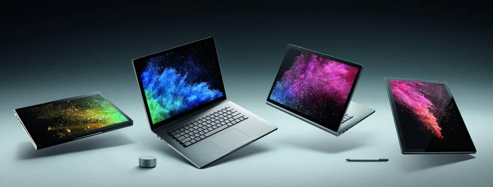 Las diferentes posibilidades del Surface Book 2.