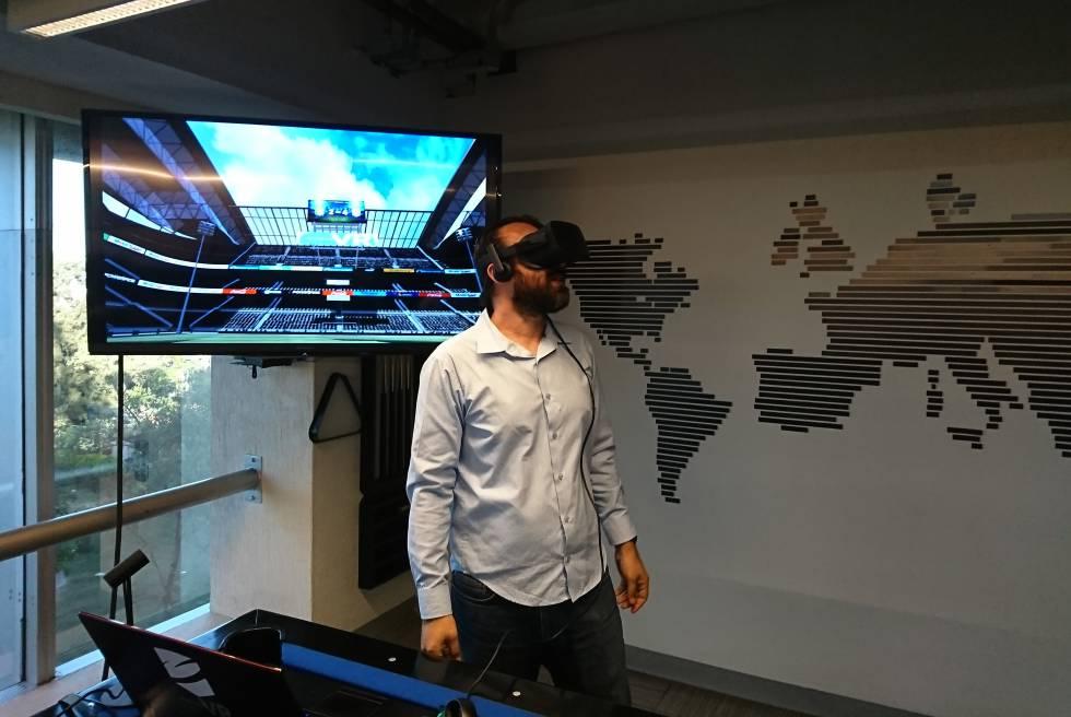 Un partido de fútbol en realidad virtual.