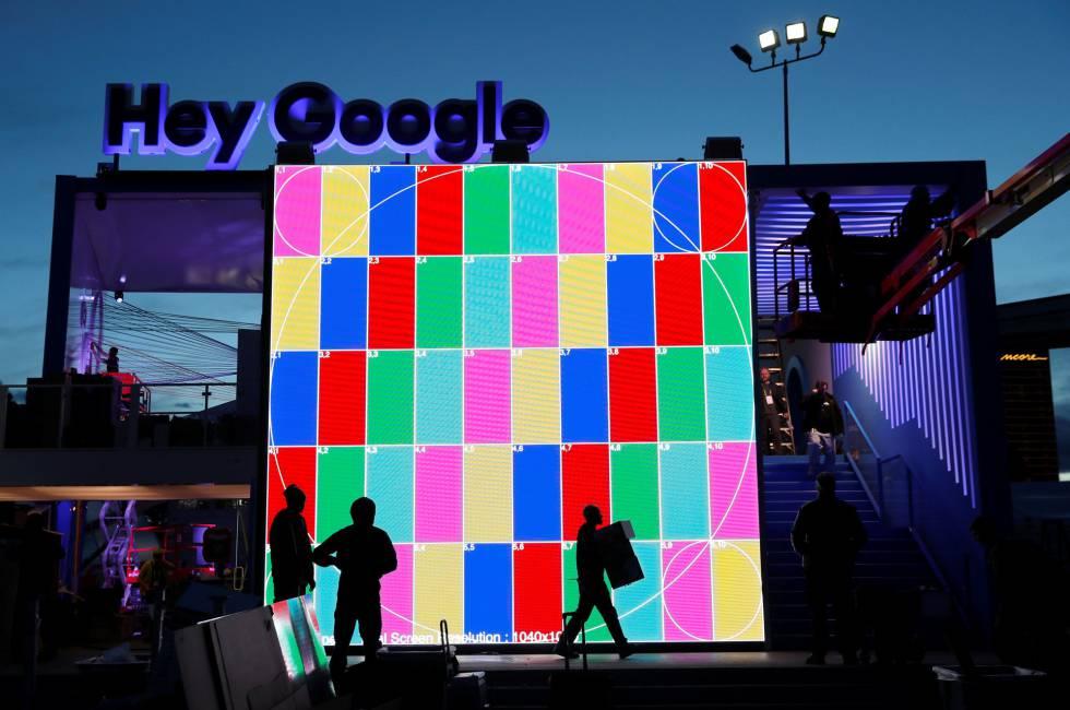 Último retoques en el espacio de Google en CES.