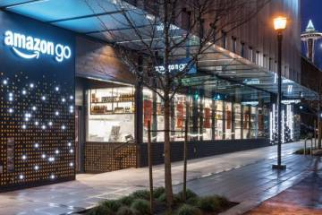 Exterior de la tienda Amazon Go en Seattle.