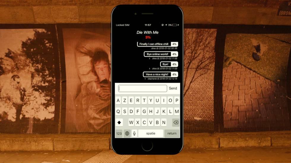Imagen de la aplicación 'Die with me'.