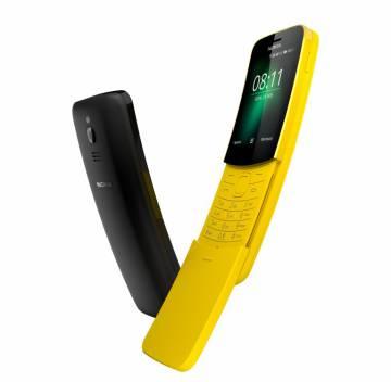 Nuevo Nokia 8110 en colores negro y plátano