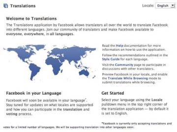 Image Of The Facebook Translating Tool When It Was First Created