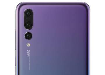 Cámara trasera del Huawei P20 Pro con tres sensores.