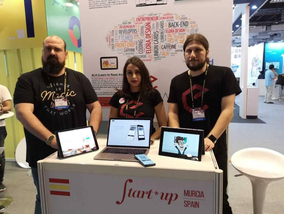 El equipo de Elora Design, una de las startups españolas presentes en Computex 2018.