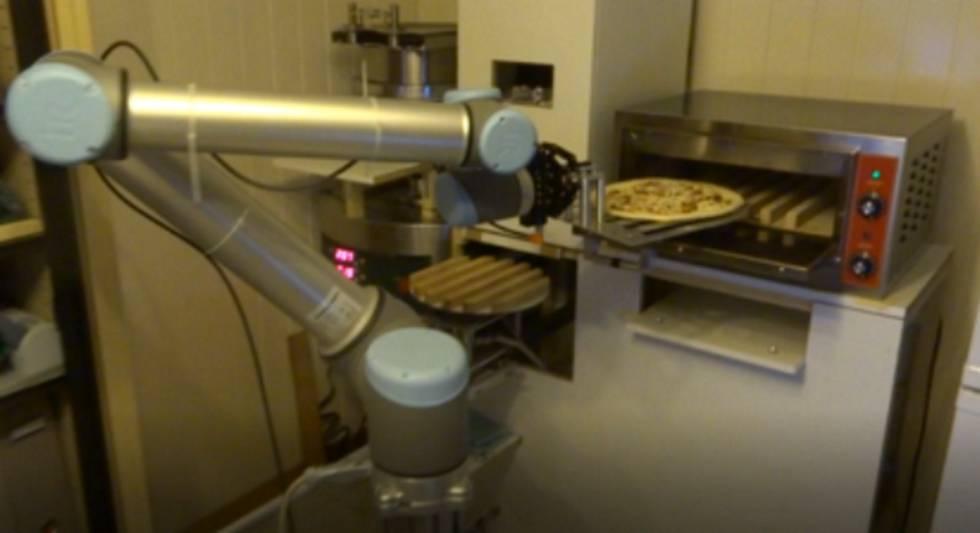 Llega la pizzería sin cocineros ni camareros