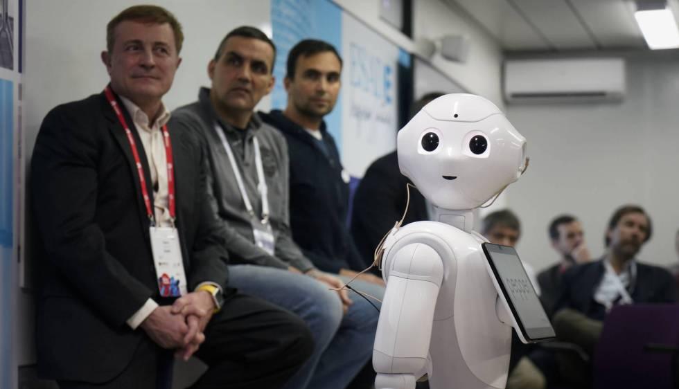 El robot 'Pepper', en el aula de Esade del pasado MWC.