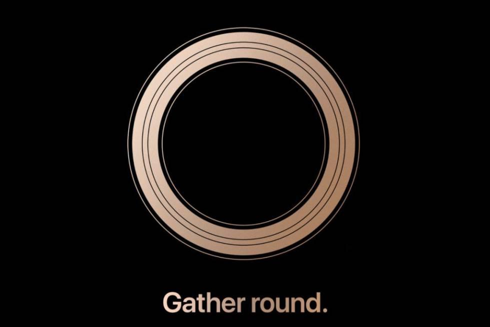 Invitación para la presentación de Apple, bajo el lema