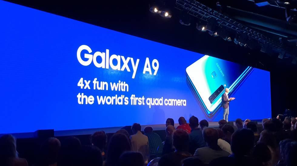 Presentación del Samsung Galaxy A9, en Milán.