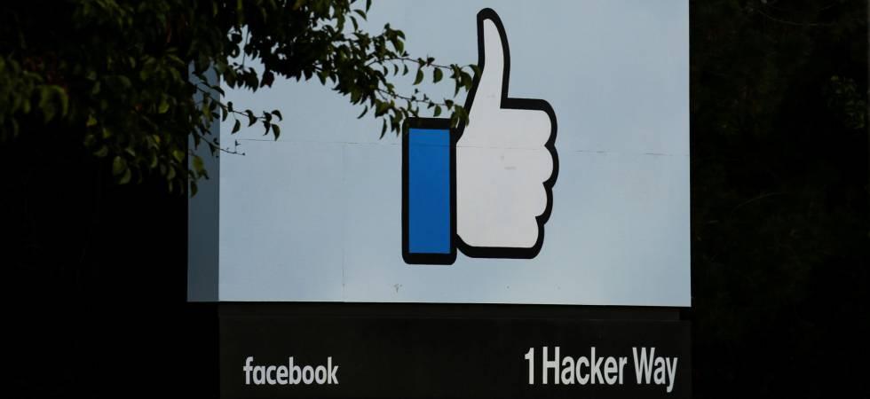 Entrada de la sede central de Facebook en Menlo Park, California.