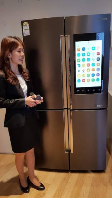 Frigorífico conectado de Samsung.