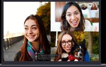 Así se ven los subtítulos en Skype.