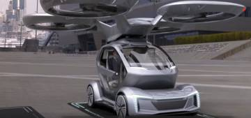 Simulación del Pop.Up.Next acoplándose a la base en un aparcamiento de drones.
