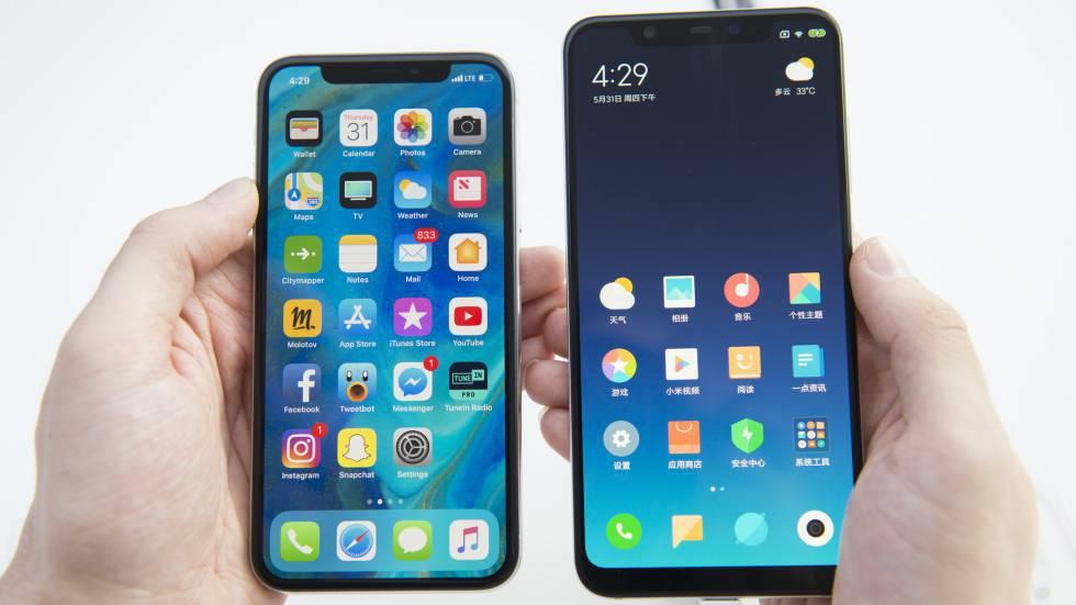 El iPhone X y el Xiaomi Mi 8
