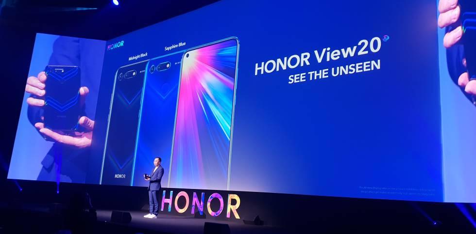 Presentación en París del Honor View20.
