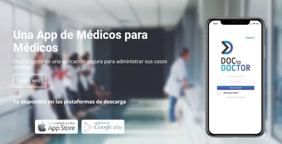 Presentación de la aplicación DocToDoctor en la web.