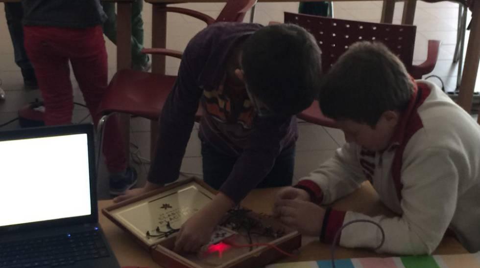 Integrantes del Club de Programación de El Páramo de Villanubla.