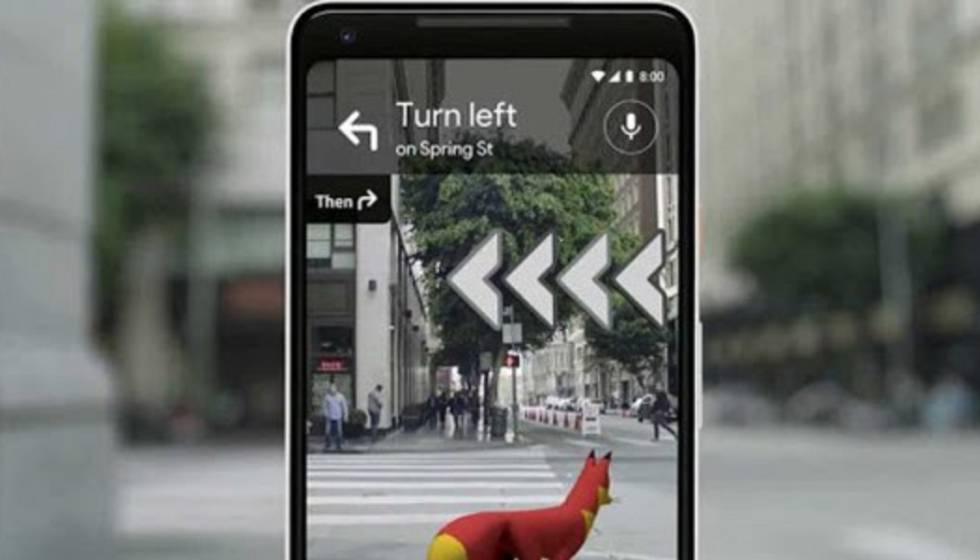 Ejemplo de uso de las nuevas opciones de Google Maps.