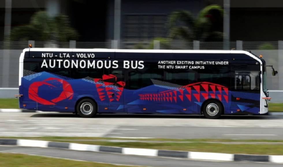 Autobús autónomo de Volvo.