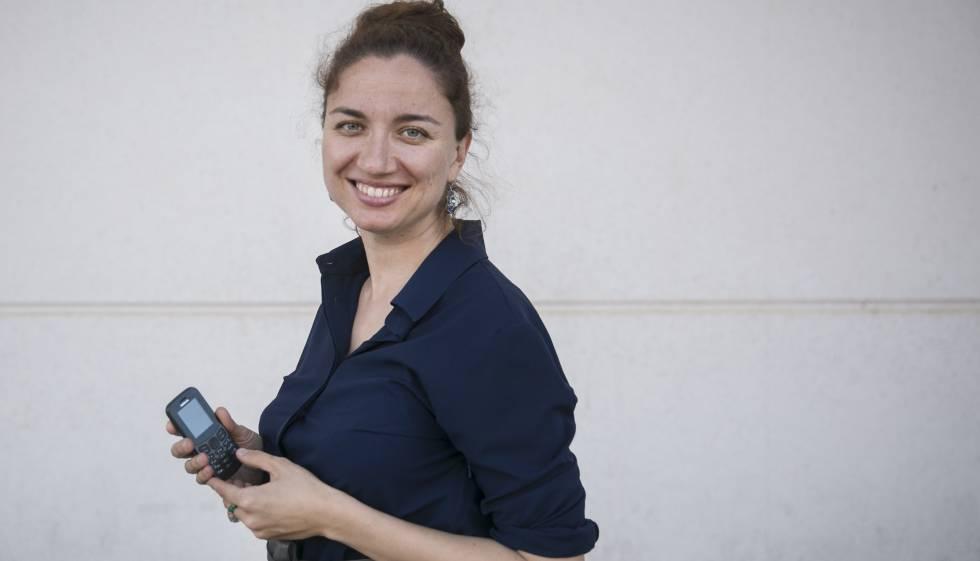 Anastasia Dedyukhina, la fundadora de Consciously Digital, en el último Mobile World Congress en Barcelona.