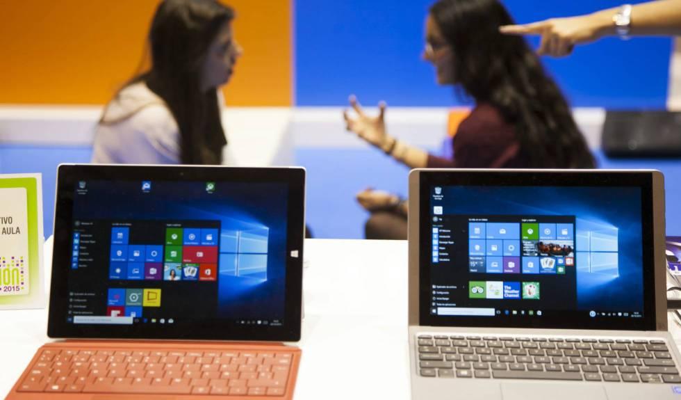 Portátiles con el sistema operativo de Windows.