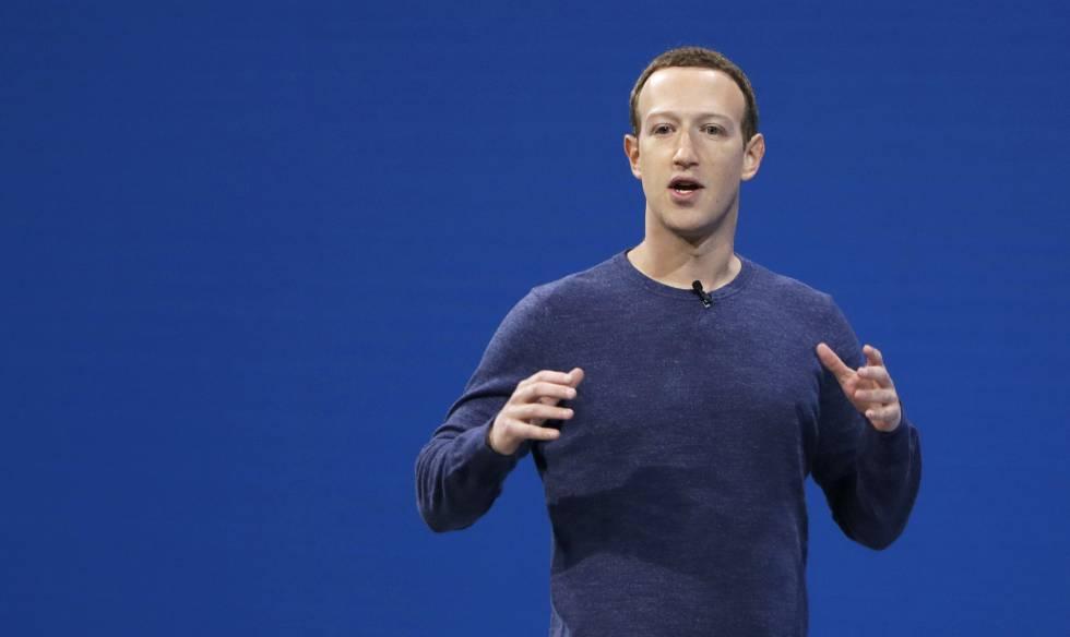 Mark Zuckerberg, durante la intervención de este martes.