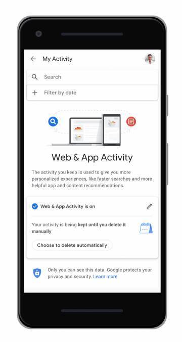 Google permitirá el borrado automático de los datos de localización y actividad