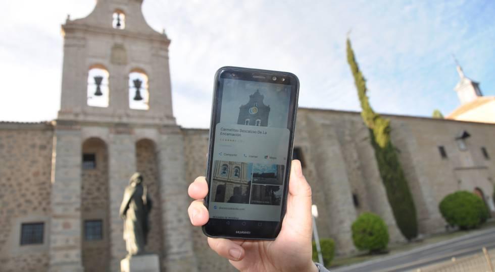 Google Lens reconoce el convento de la Encarnación, en Ávila.