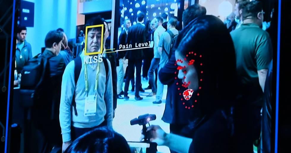 Ejemplo de reconocimiento facial mostrado en el último Consumer Electronics Show de Las Vegas