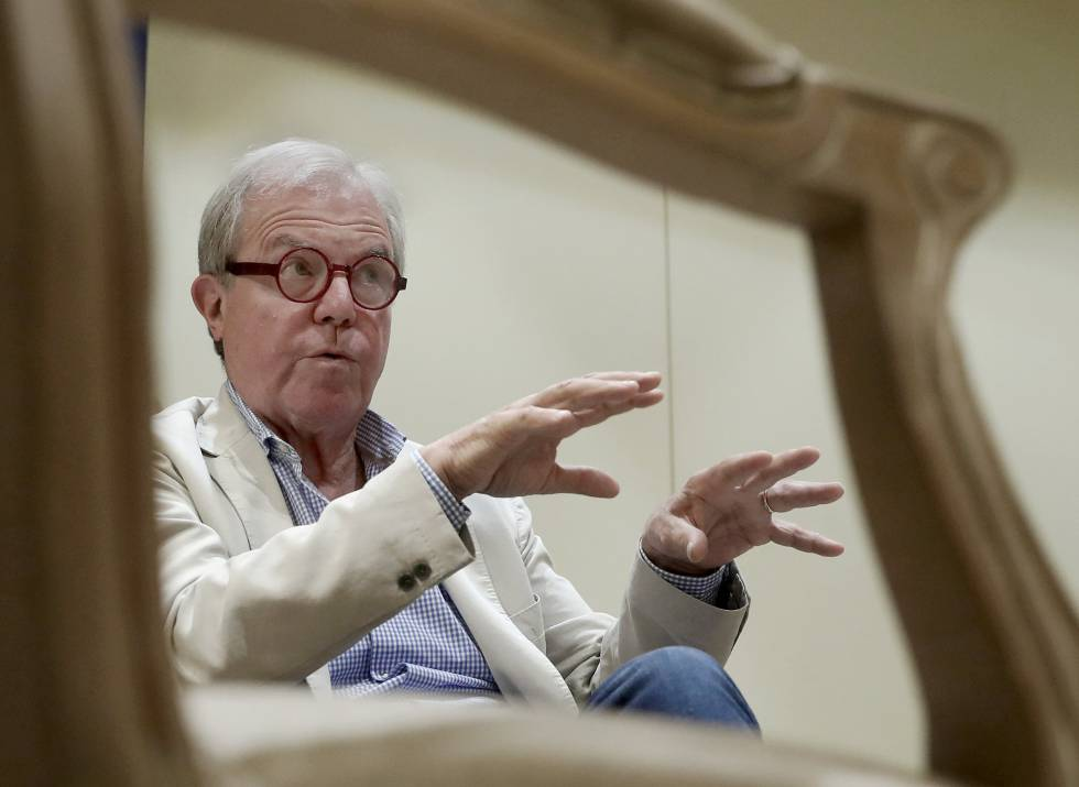 Nicholas Negroponte, durante la entrevista este miércoles en Madrid.