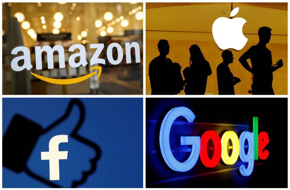 Combinación de logotipos de las principales empresas tecnológicas.