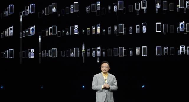 DJ Koh, el presidente de Samsung, durante la presentación del Samsung Galaxy Note 9 en agosto del año pasado en Nueva York.