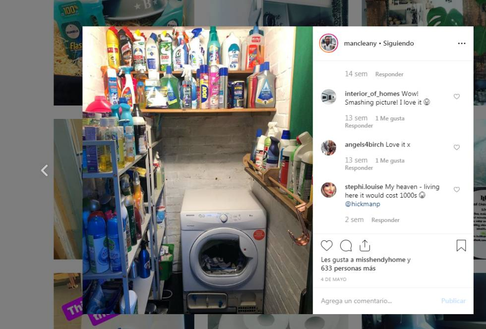 Limpiar y mostrarlo en Instagram para lidiar con el estrés