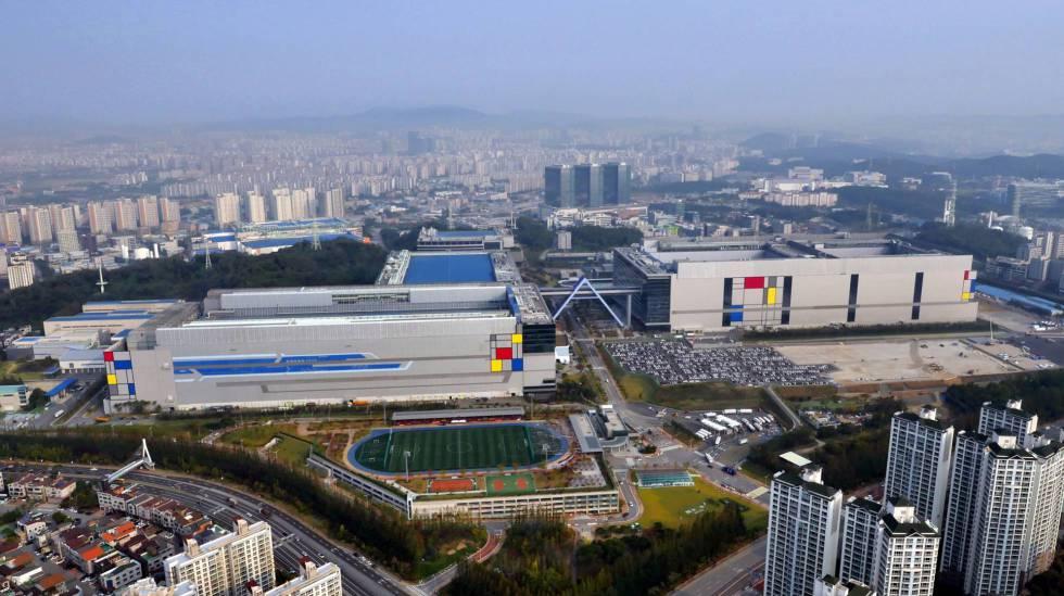Vista aérea de la ciudad tecnológica de Samsung en Giheung.