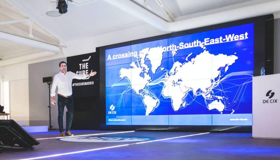 Presentación del GlobePeer Remote de la compañía DE-CIX en Madrid.