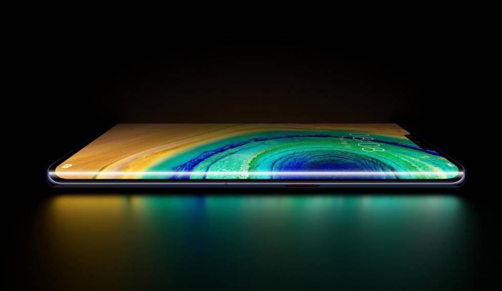 Pantalla curva del Huawei Mate 30 Pro
