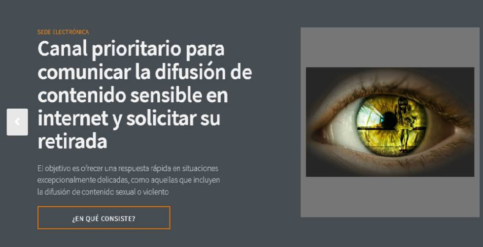 Captura de pantalla de la nueva plataforma de protección de datos de la AEPD.