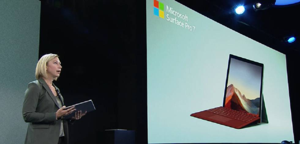 Presentación de la Surface Pro 7 de Microsoft