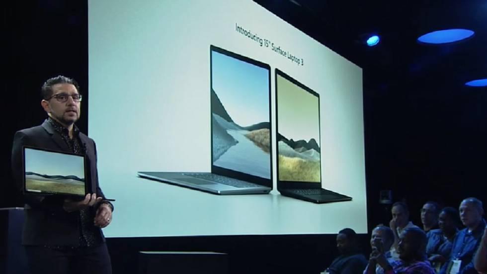 El jefe de Producto de Microsoft, Panos Panay, presenta el portátil de 15 pulgadas Surface 3