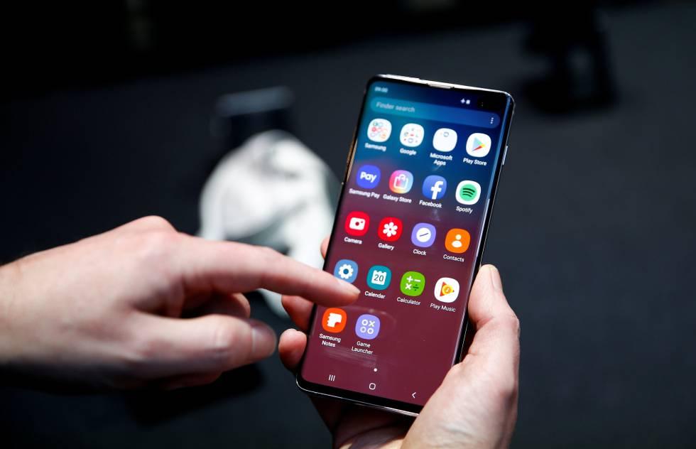 Un Samsung Galaxy S10.