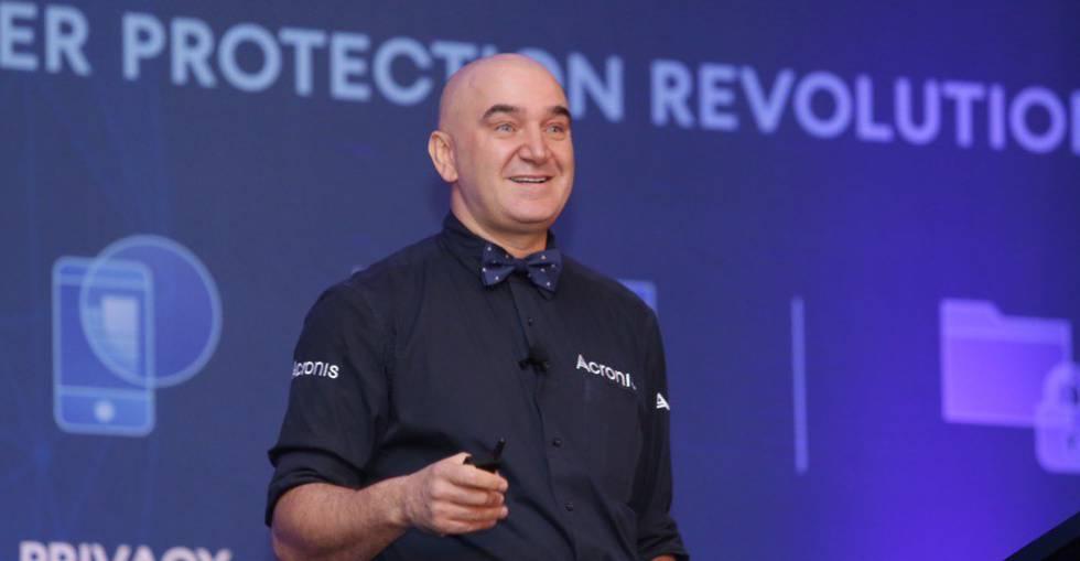 Sergei Beloussov, el empresario de origen ruso creador de la firma de seguridad en internet Acronis, durante la cumbre celebrada en Miami.