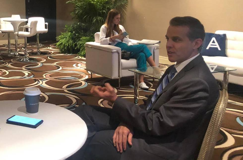 Eric O'Neill, durante la entrevista tras la cumbre de Acronis de Miami en la que ha participado.