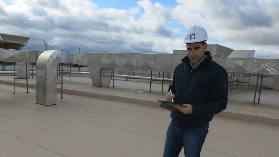 Jorge Bermejo, en una de las obras ejectudas por su empresa, premio CEPYME a la Mejor Transformación Digital