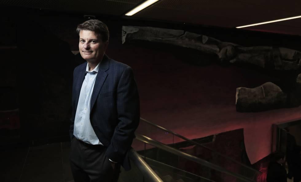 Martin Ford, autor experto en robótica, en el auditorio de la Mutua Madrileña este martes.